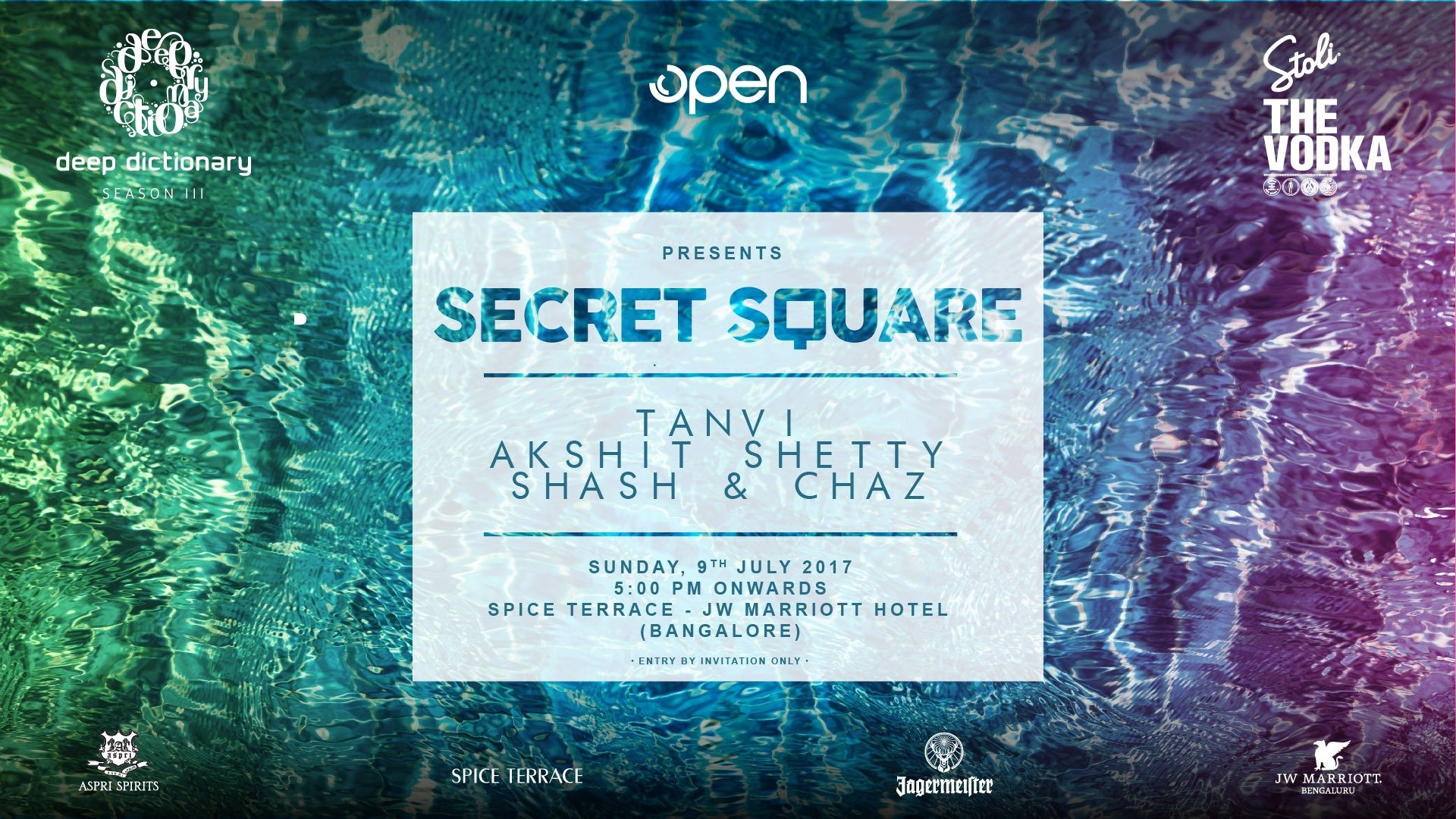 Deep Dictionary Presents Secret Square Spice Terrace Poolside