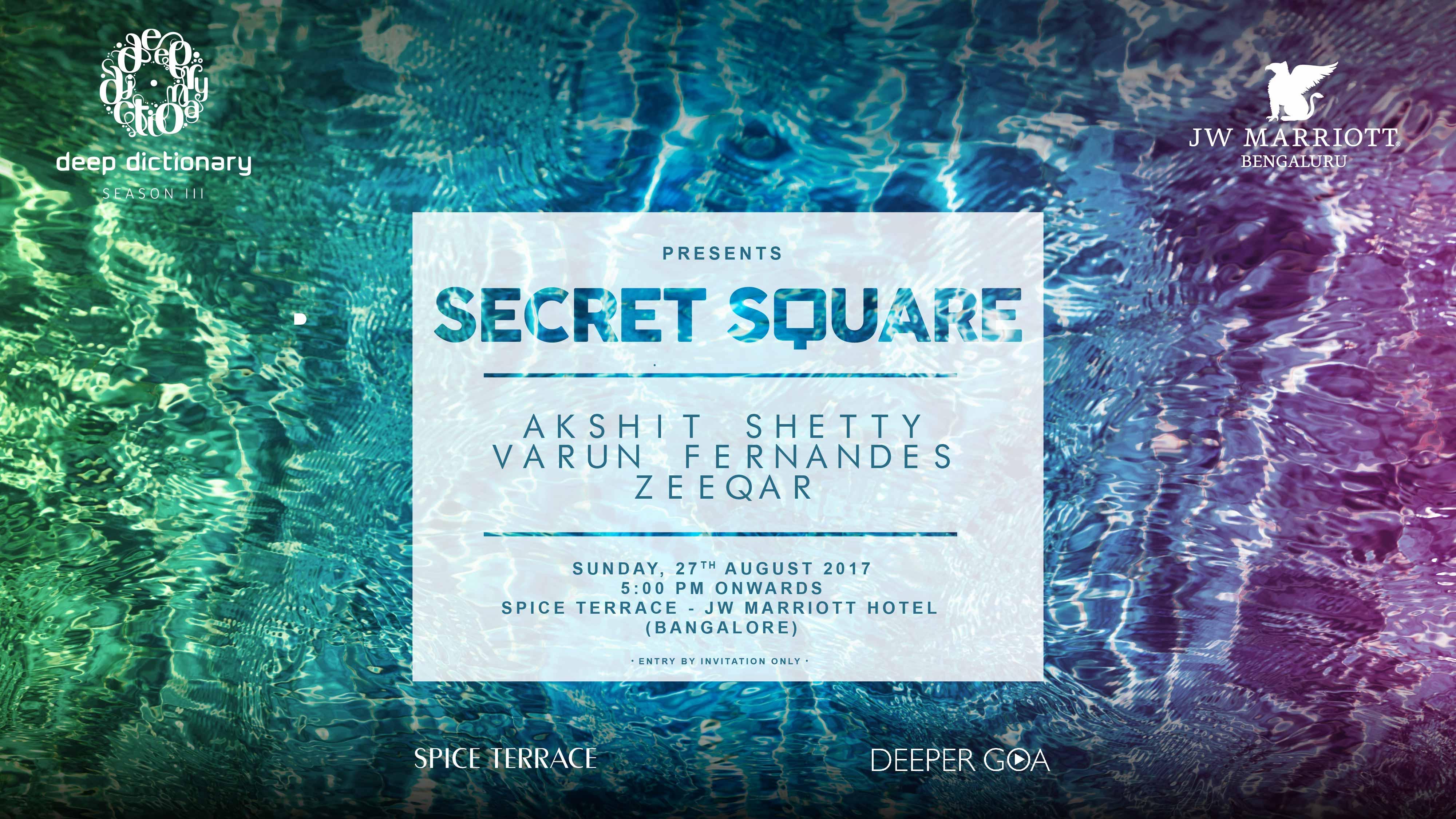 Deep Dictionary Presents Secret Square Spice Terrace Deep Dictionary